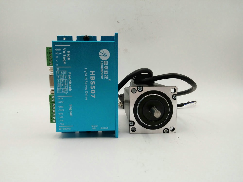 573HBM20-1000+HBS507 3ph 1.2 degree 5.8A 286on-in 2Nm NEMA23 57mm 18-48VDC leadshine closed loop stepper motor kit