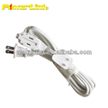 S60199 6 FT 3 Outlet 2 Prong Indoor Wall Power AC Extension Cord Cable White UL Listed