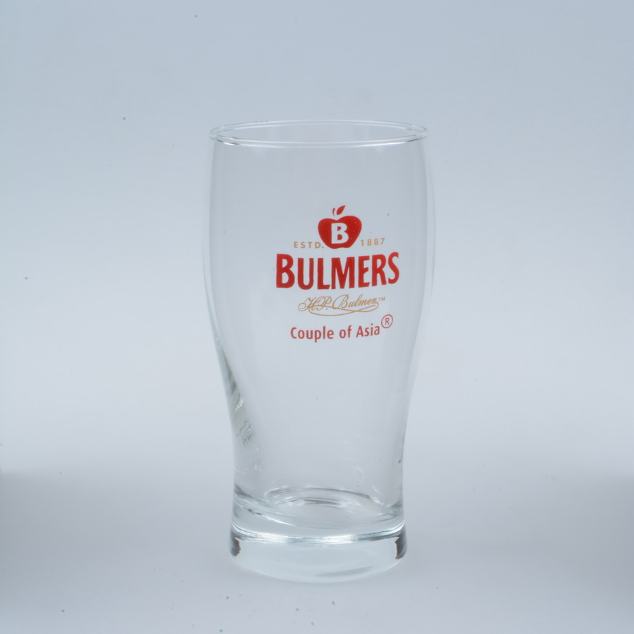 customized decal and logo custom glass drinking glass with round bottom