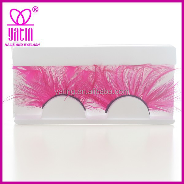 YATING Suppliers The Newest Colorful Feather False Eyelash