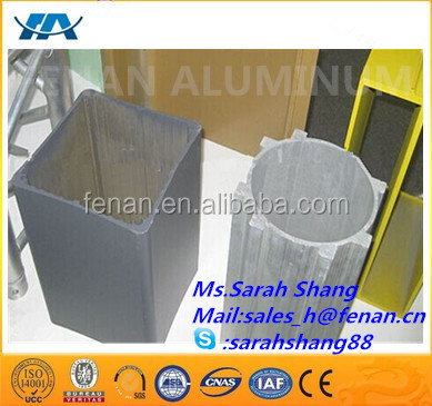Competitive extrusion aluminium square bar hollow with output aluminium extrusion press 300 per day colored aluminium anodizing