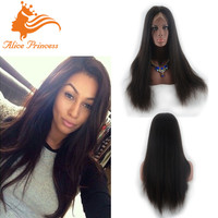 Top Grade Fashional Style Reasonable Price Brazilian Virgin Human Hair Synthetic Full Lace Wigs With Baby Hair
