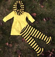 2014 new hot baby girls stripe dress pant set with stripe scarf girls stripe dress pant