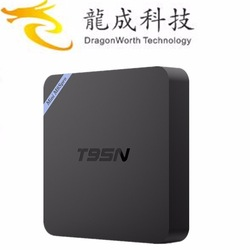 2017 High quality Amlogic S905X cpu 8GB emmc rom T95N Android tv box android tv box digital <strong>satellite</strong> receiver
