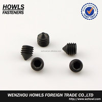 High quality carbon steel and stainless steel DIN914 hex socket set screw with cone point