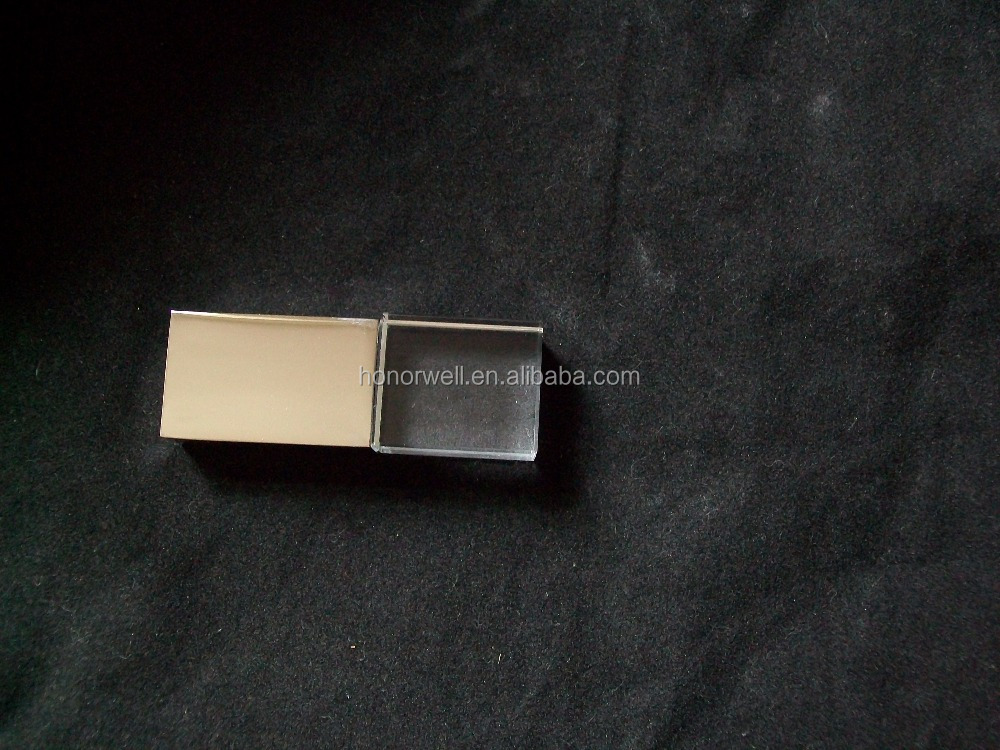 Gold slivery Crystal usb flash memory disk customized logo for gift or use