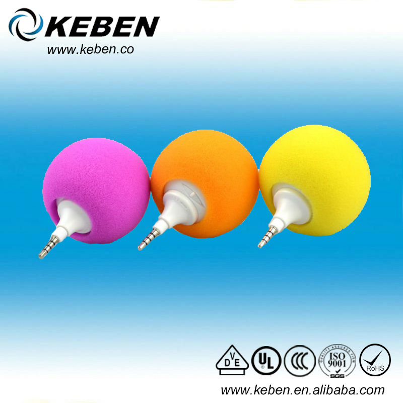 Ball Designed 3.5mm Audio Dock colorful portable audio speaker