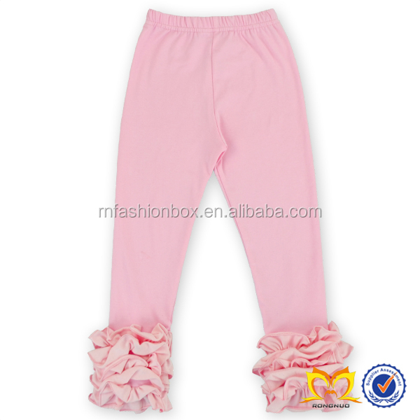 Best Selling Icing Cotton Ruffle Pants Fall Chic Baby Leggings Wholesale Triple Ruffle Legging pants