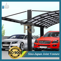 2015 Most Popular and Durable flat roof carport sun shades at high quality and reasonable price-CR- back to back model