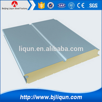 china fireproof pu polyurethane foam sandwich panel supplier