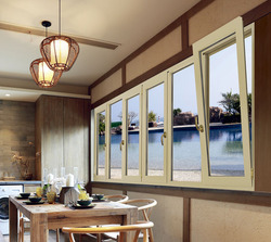 Swing casement window solid wood indoor aluminum alloy frame outdoor,aluminum-wood window