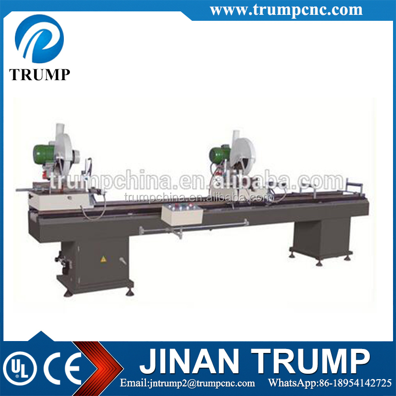 UPVC/PVC/plastic window door profile cutting machine with double cutting head