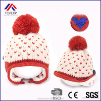 Knitted Beanie Hat with pompom
