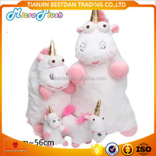Bestdan Despicable me small yellow people cartoon <strong>plush</strong> unicorn toy and unicorn bag keychain