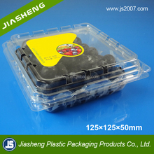 2017 new stytle clear plastic blister blueberry packaging boxes blueberry packaging container