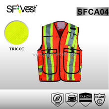 2015 high quality reflective safety vest with multy pocket ,CSA Z96-09
