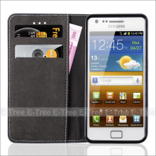 Credit Card Slot Phone Case for Samsung Galaxy S2, For Samsung S2 Wallet Case