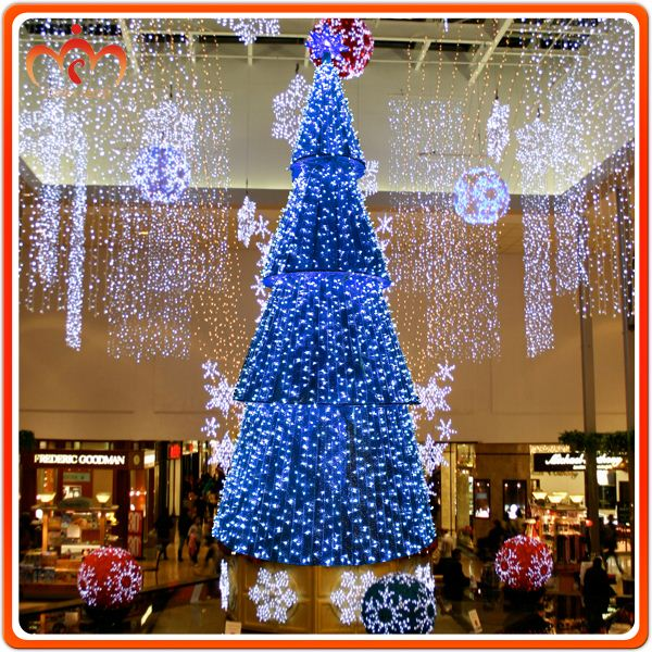 Custom made fabric LED cone tree christmas decoration garlands