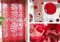 modern style red colour polyester string curtain