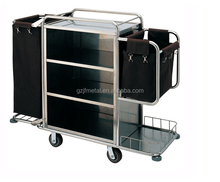 Both Ends Bags Hotel Trolley Room Service Housekeeping Cart
