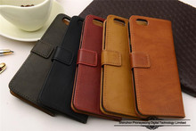 Special design 5.5 inch genuine cow leather phone case for iphone 6 plus