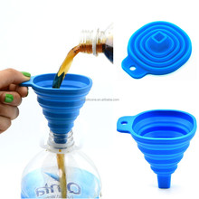New design Smart Easy To Carry Silicone Small Funnel for Kitchen Utensil