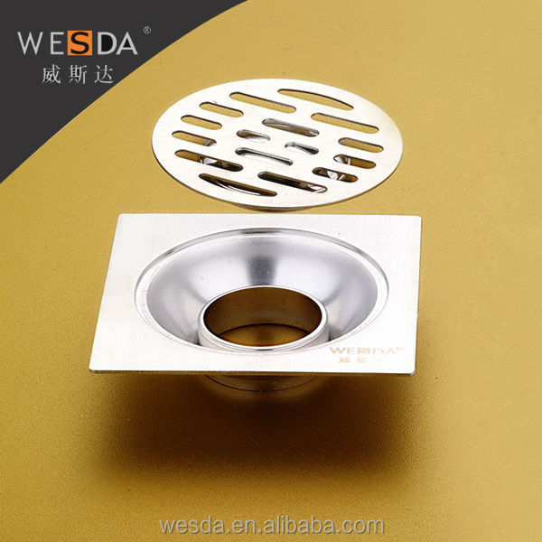 WESDA 3.5inch outdoor drain cover stainless steel Floor Drain/drainage bathroom/kitchen draining fittings/accessary