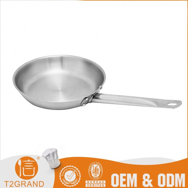 Promotional Price Restaurant Stainless Steel Large Fry Pan