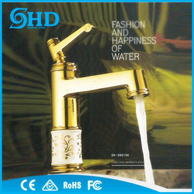 Best price new design brass wash basin faucet, luxury metal faucet taps