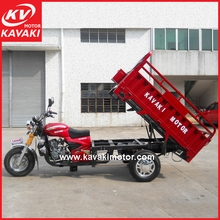 5.0-12 Big Tires Heavy Loading 800kg Cargo Motorcycle Tricycle With 1.2*1.8m Cargo Cabin