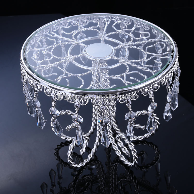 New Antique decoration Crystal Bead Cake Stand for Wedding Anniversary Birthday