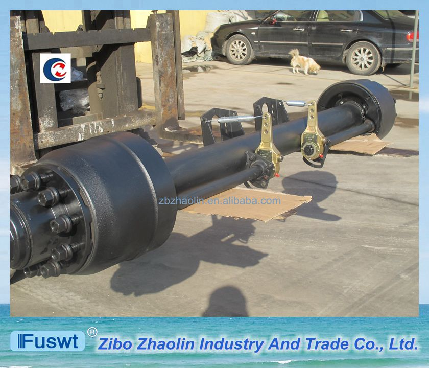 Hot selling FUWA lowbed trailer outboard lift axle for dump truck for sale