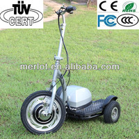 high-quality 3 wheels brushless stand up elelctric bike with CE
