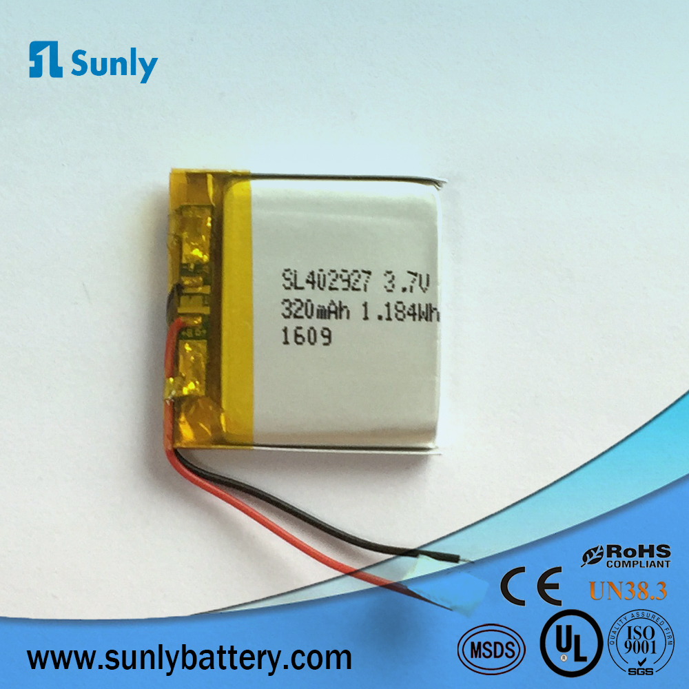 best cheap smartwatch lipo <strong>battery</strong> 402927 320mAh,3.7v with KC certificated