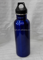 wide mouth single wall stainless steel 650ml water bottle with PP cap