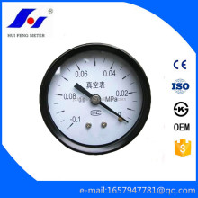 Back Connection -0.1-0MPa 60mm Vacuum General Bourdon Tube Water Pressure Meter Test Gauges