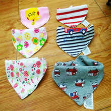 Wholesale double layers new cotton toddle scarf baby bandana bib
