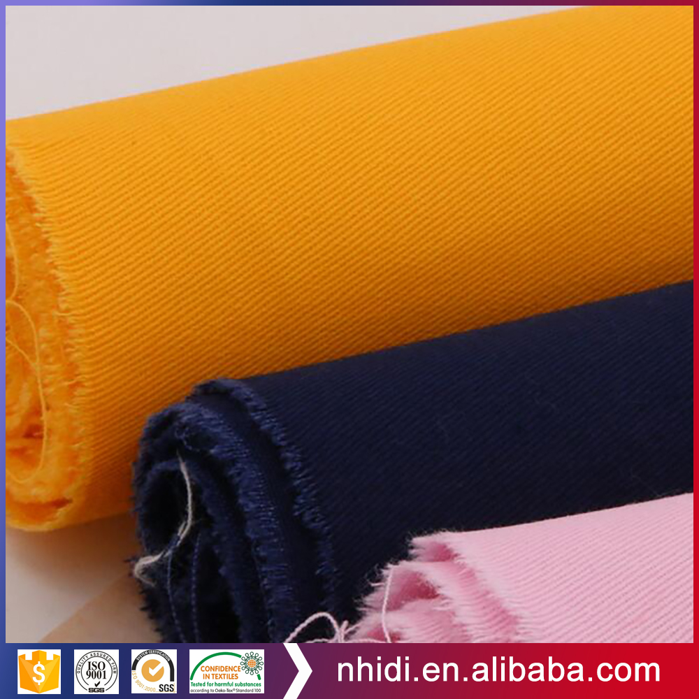 98% cotton 2% spandex piece dyed brushed heavy 245gsm cotton spandex twill stocks