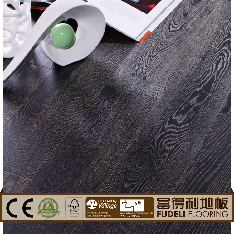 Antique handscrape distressed laminate natural color oak engineered wood flooring