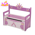 2018 New design nursery bench wooden large toy box for kids W08C265
