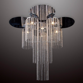 Classic Crystal Chain ceiling Light fixture for flashy hotel