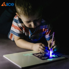 educational <strong>equipment</strong> 3D drawing PVC soft panel freeze magic UV light toys in dark night