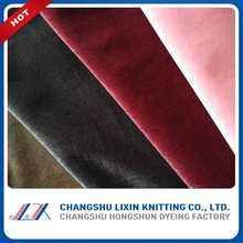 95% polyester 5% spandex High quality Warp knitted Poly Spandex spun polyester Velvet dyed