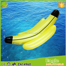China manufacturer inflatable boat plastic banana floating swimming pool pvc inflatable banana boat for sale