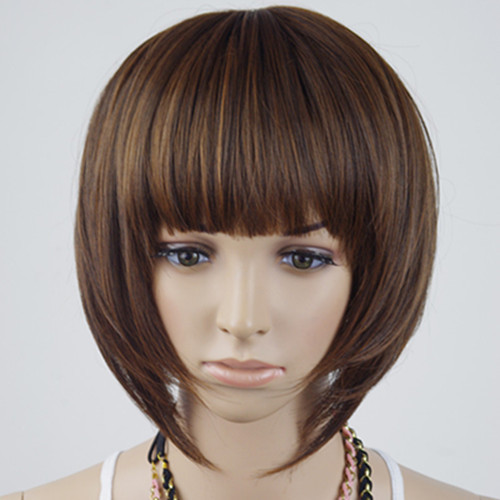 Ladies' Short Neat Bangs BOB Cosplay Wig for Masquerade Party