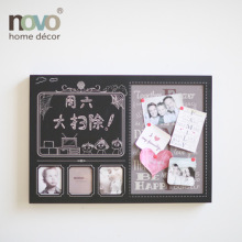 3D plastic photo frame with blackboard and magnet board on surface
