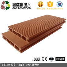 Eco friendly Outdoor hollow terrace wpc decking