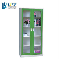 known down office furniture quilt storage cabinet with swing glass door