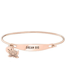 Lady Jewelry Rose gold plating Stainless Steel Jewelry Slider Bangle Charm Name Bar Bracelet