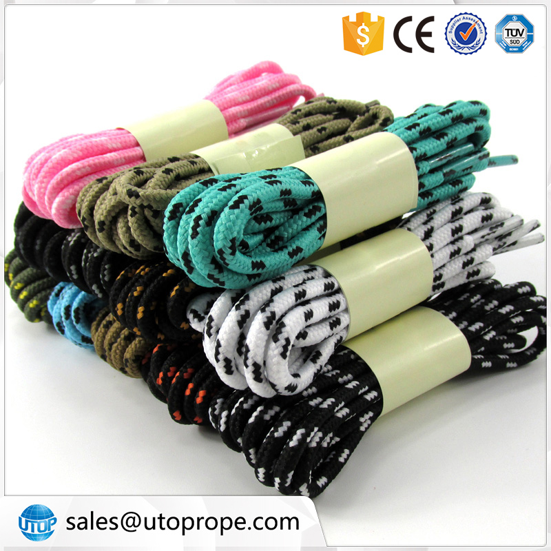 UTOP 4 mm 1.2 m Polyester Silk Dot Round Double Colors Sports Shoe lace